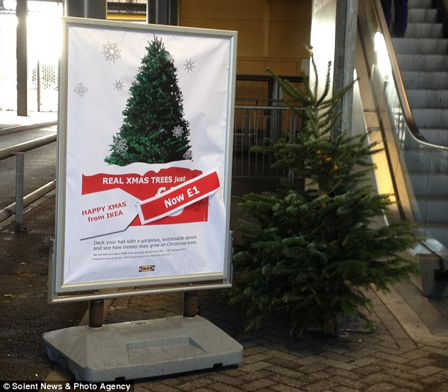 Now Thats An Austerity Christmas Tree Ikea Slashes Price