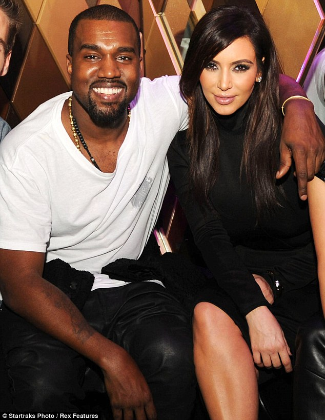 She's moved om: Kim is now happily dating rapper Kanye West; seen last week in Miami