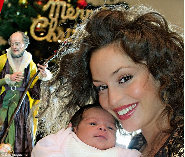 Bambino: Mario Balotelli's ex Raffaella Fico and their daughter Pia. The Man City player has yet to meet his child