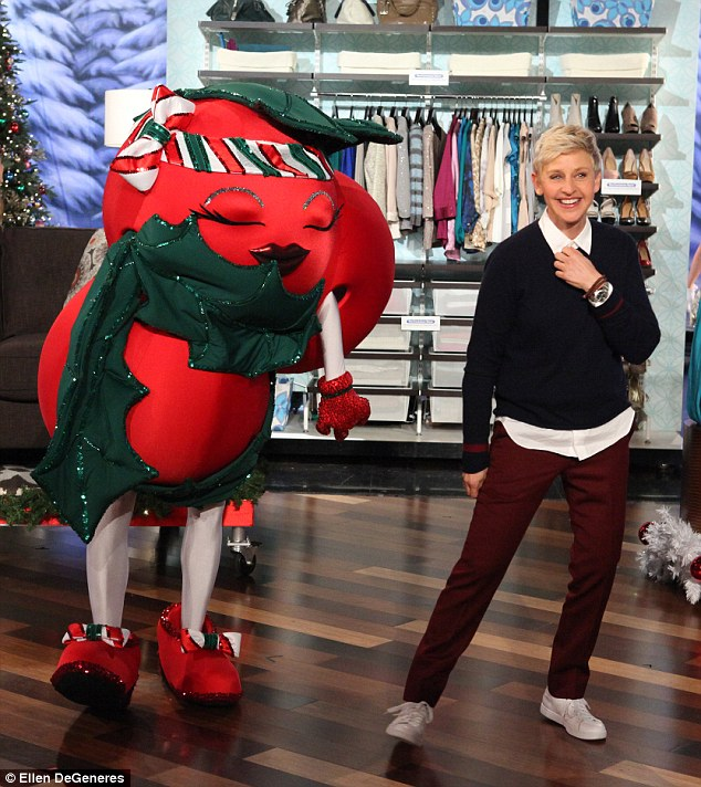 Good golly Miss Holly: Halle Berry played it for laughs when she appeared as the Ellen DeGeneres Show's Christmas mascot