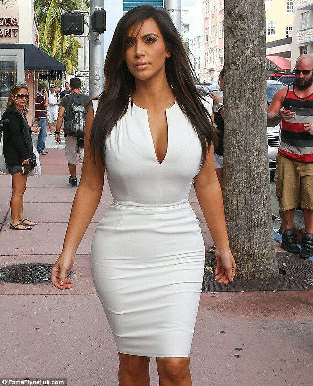 How she was: Last Saturday Kim was seen in Miami showing off longer tresses
