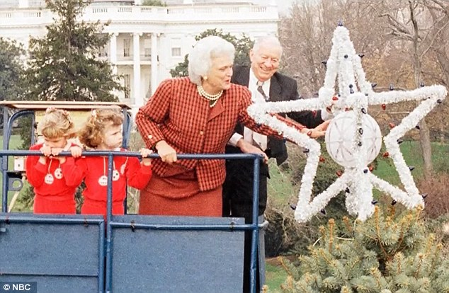 Shared memories: Jenna Bush recounted helping her grandmother put a star on the tree when she was a child, left