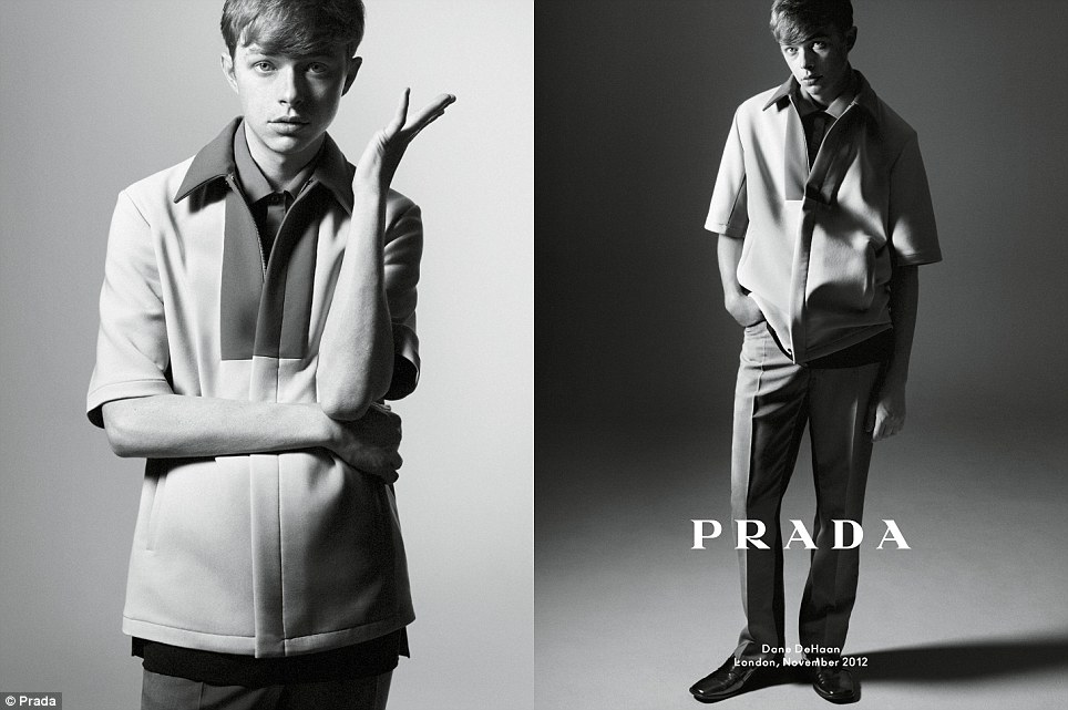 Bright Star: American actor Dane DeHaan - who married his long-term actress girlfriend Anna Wood this year - exudes simple style in Prada's new line
