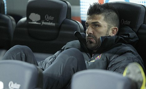 Keeping the bench warm: Villa has become frustrated with a lack of first-team opportunities at Barcelona