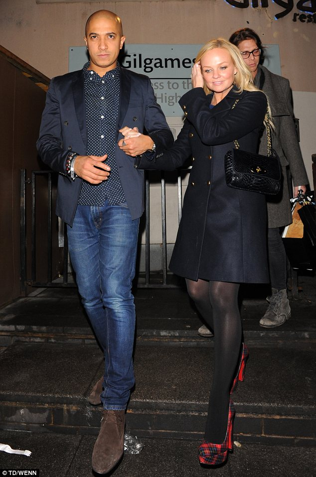 I got you: Emma Bunton and long-term boyfriend Jade Jones leave Gilgamesh in Camden hand in hand