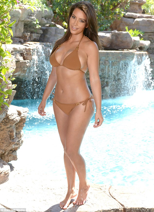 Famous curves: Kim proves that she still got the body that shot her to fame