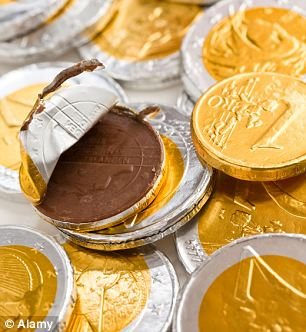 More conventional Christmas fare: Sales of chocolate gold coins are probably soaring as well...