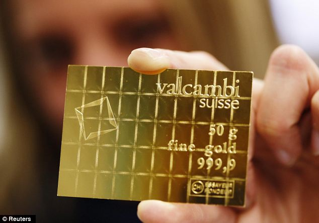 Crisis currency: Swiss refinery Valcambi has been selling its CombiBar to private investors in Switzerland, Austria and Germany who are worried about a return of Weimar Republic-style hyperinflation