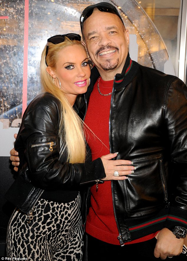 A time for forgiving: Despite his recent Twitter outburst Ice-T seemed in good spirits