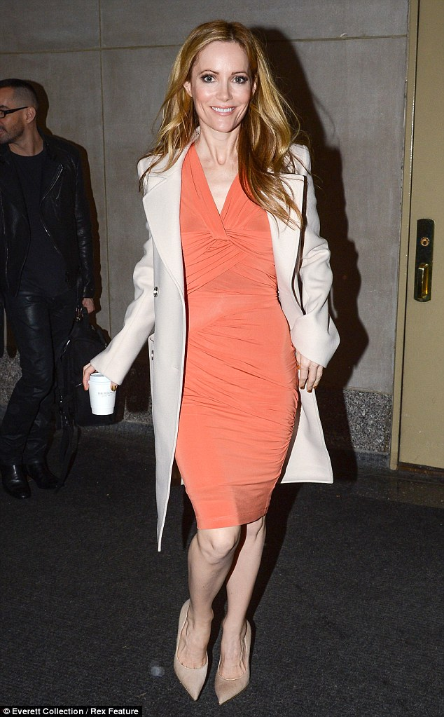 What a knockout: Leslie doesn't have anything to worry about - she looks fabulous at 40; here she's pictured in NYC where she appeared on the Today show on December 20