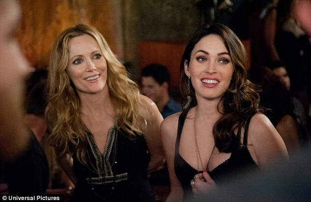 Bosom buddies: Leslie Mann says Megan Fox has 'better boobs than I've ever seen in my life' after a scene called for her to feel her up in This is 40 co-star