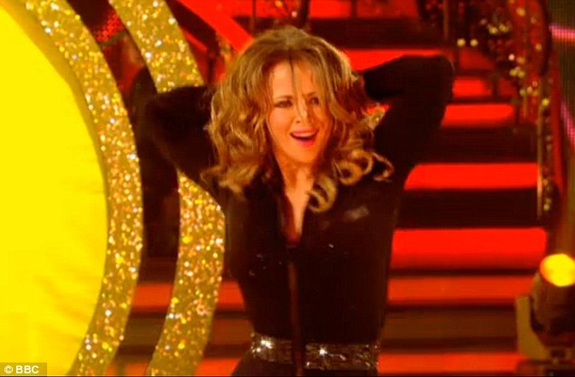 Sassy: The Girls Aloud singer put on a sexy display to Crazy In Love