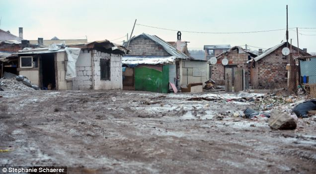 The shanty town of Fakulteta, Bulgaria. The main supermarket - the owner is himself a gipsy - has stopped all credit because of the debts racked up for unpaid groceries