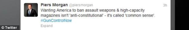 Hitting back: Morgan has responded to the growing petition with a series of tweets