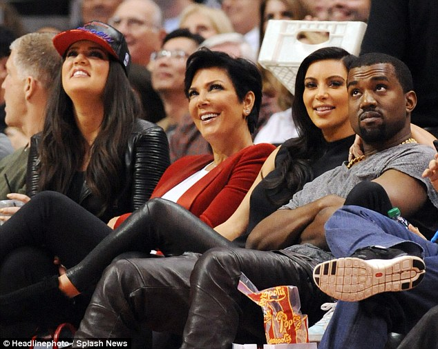 Bruce who? Kris was having a great time next to Khloe and her favourite daughter Kim