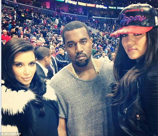 'Clipper swag': Kim posted this picture after the game