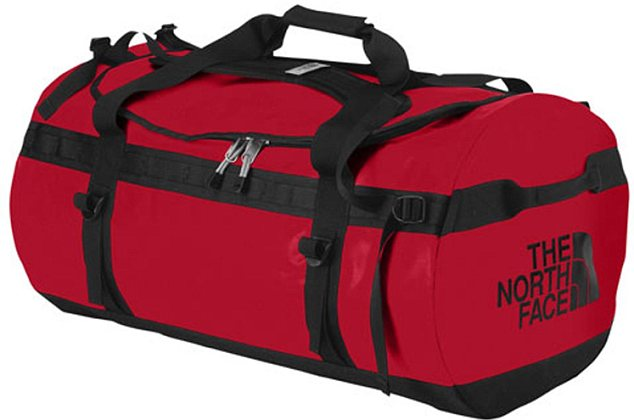Locked: Mr Williams' body was found inside a red North Face holdall similar to this one