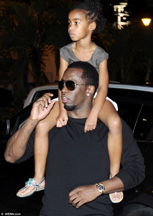 His leading lady: Diddy with his daughter