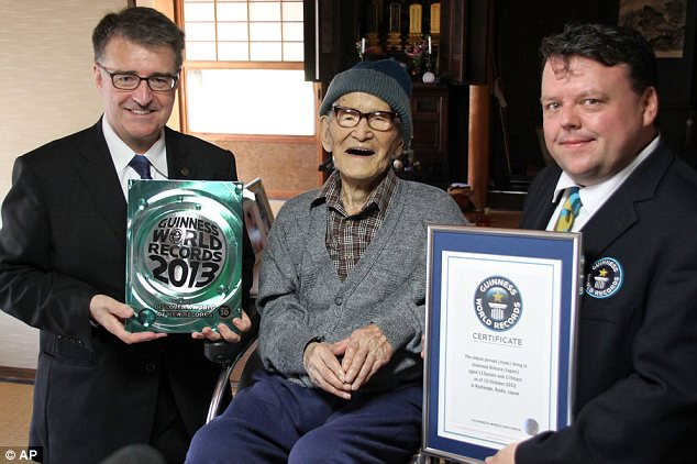 Official: Mr Kimura was declared the world's oldest by Guinness World Records earlier this month