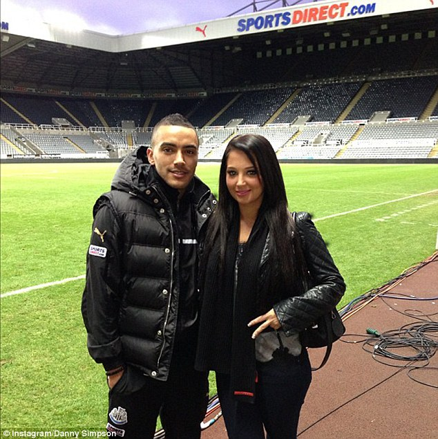 His number one fan: Tulisa seemed to have been treated to a tour of the Newcastle United stadium by her footballer beau