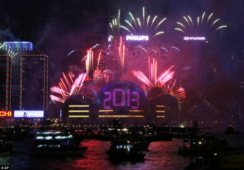 Honk Kong went off with a bang to celebrate New Year with this spectacular fireworks display