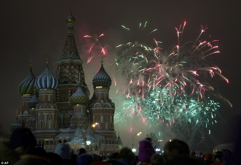 Looking forward: Russian President Vladimir Putin gave an optimistic New Year's Eve address, making no reference to the anti-government protests that have occurred in his country in the past year