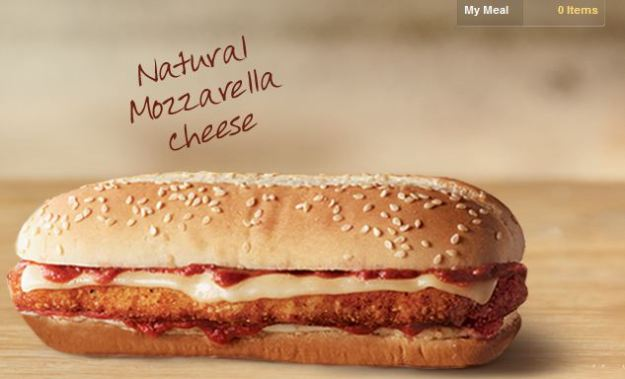 This Italian chicken sandwich breaded and coated with marinara and cheese has been added to the menu at BK