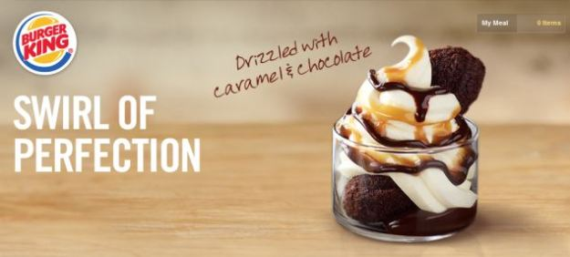 For a limited time only, BK's menu will also include this molten fudge sundae
