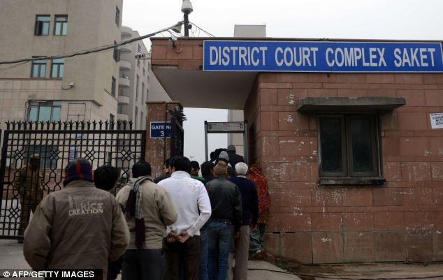 Public interest: Indian citizens queue to enter the Saket district court in New Delhi - preliminary hearings for the five men accused of raping Miss Singh Pandey begin here tomorrow