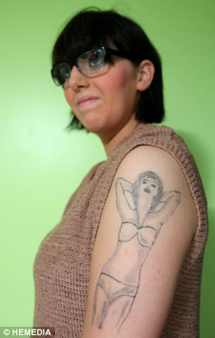 Siobhan Fields, 16, is appalled with the result of her Marilyn Monroe 'artwork' she received from Daves Intenze Tattoos