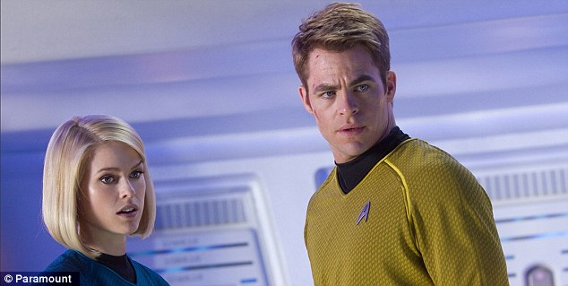 Chemistry: British beauty Alice Eve and Chris Pine give Star Trek a glamorous spin