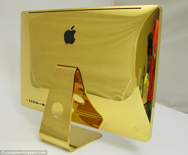 Gold dipped: Computer Choppers personalizes high-tech gadgets and offers to cover your favorite Apple product in white, rose and yellow gold, as well as copper, black and silver chrome