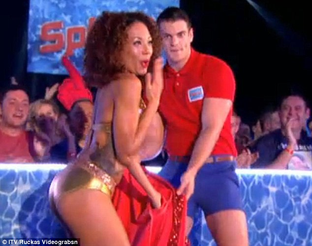 Cheeky: Jade grinned and pretended to be embarrassed as she revealed her impressive figure