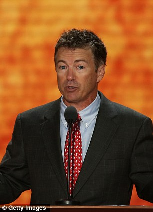 Rand Paul (left) is the father of the teenage boy arrested in North Carolina and Ron Paul (right) is his grandfather