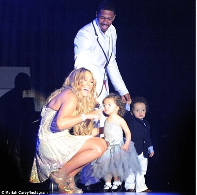 'Thank you for coming': Mariah invited her charming family onstage at one point and had little Monroe thank the audience