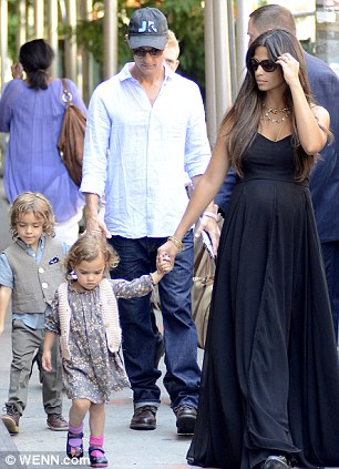 Matthew's wife Camila gave birth last week to their third child, seen here with Levi and Vida