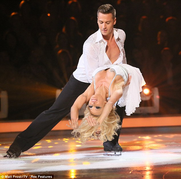 Small stint: Pamela was the first celebrity to be voted off Dancing On Ice on Sunday, seen her performing her one dance with partner Matt Evers