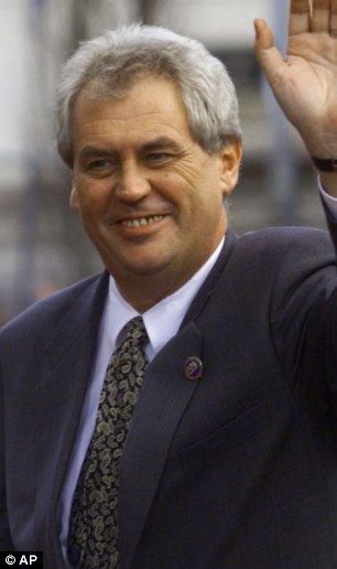 Ex-Czech Republic Prime Minister Milos Zeman