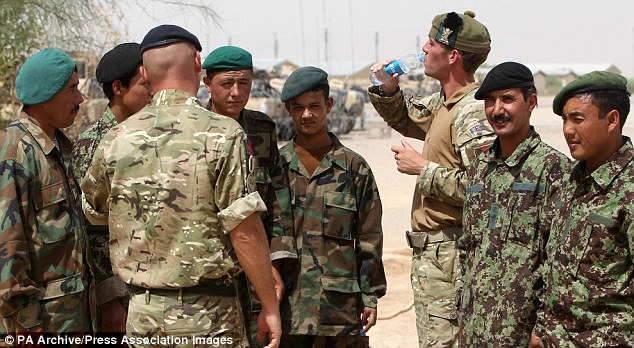 Image result for British soldiers helmand training ANA