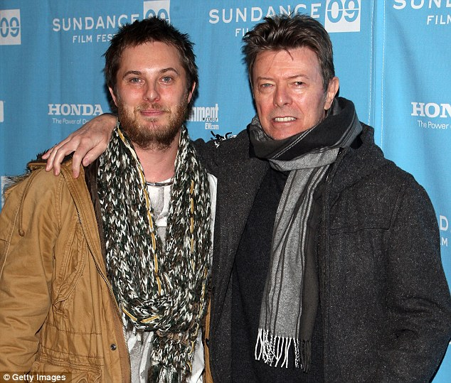 Proud dad: Film director Duncan Jones and his father David Bowie at the premiere of his movie Moon in January 2009