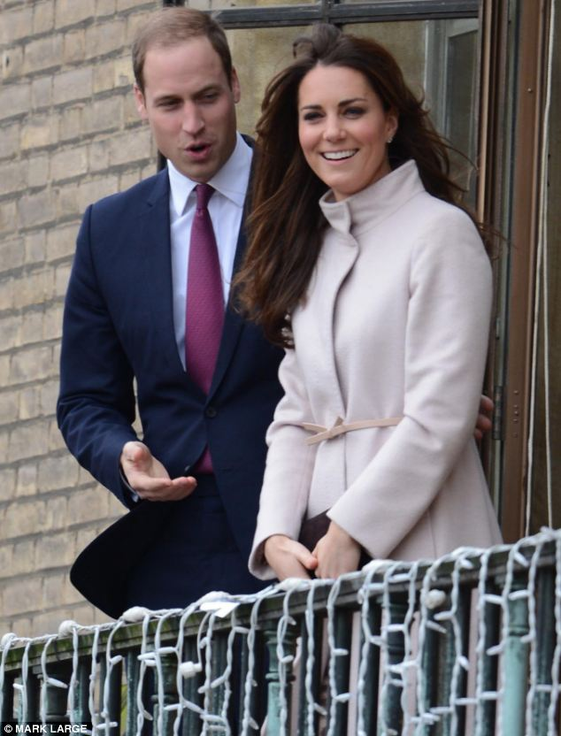 Parents-to-be: The Duke and Duchess of Cambridge on the balcony at the Guildhall during a visit to Cambridge