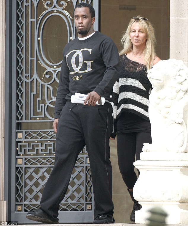 Battle stations: Diddy has been spotted taking a tour of a $24.5million property in Beverly Hills with an estate agent this week, but Jerry Bruckheimer also wants to buy it