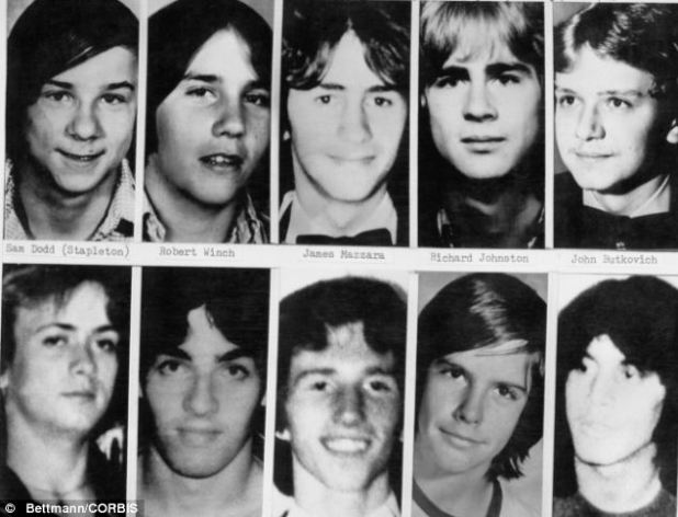 Victims: Headshots of some of the boys and young men whose bodies were identified as victims of John Wayne Gacy