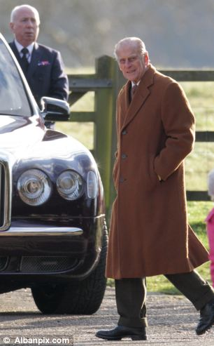 Prince Philip, also at the service, walked the quarter mile to and from Sandringham House for the service