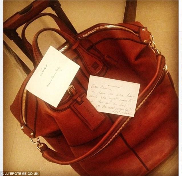 49552481af New holdall  She also received a large designer bag