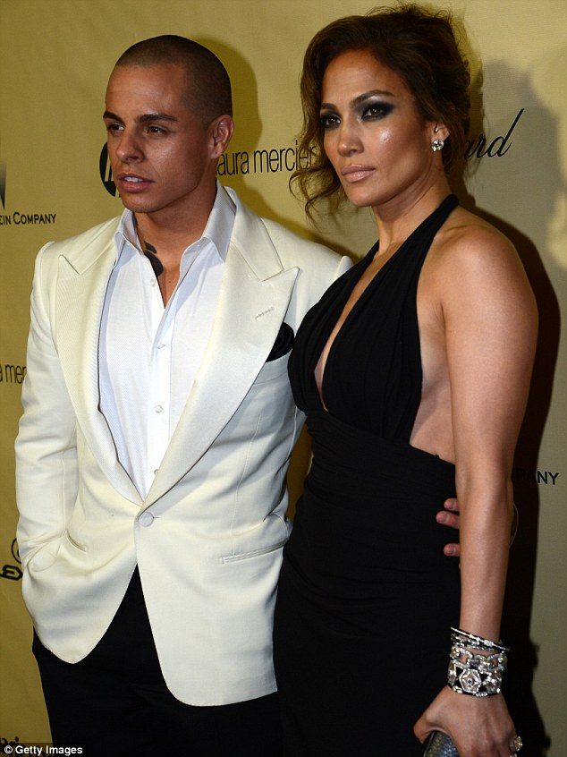 Date night: Jennifer and Casper looked smitten as they posed up for photographers outside the event, at the Beverly Hilton hotel