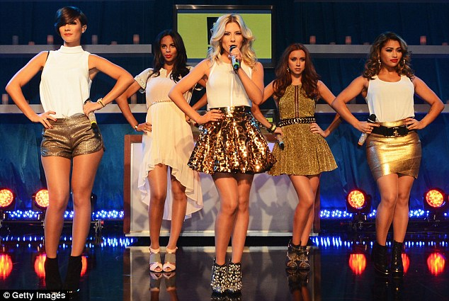 Wowing the crowd: The Saturdays were excited to perform at Fiat's Into The Green party after the Golden Globes on Sunday and they brought some extra sparkle to the event in their shimmering white and gold outfits