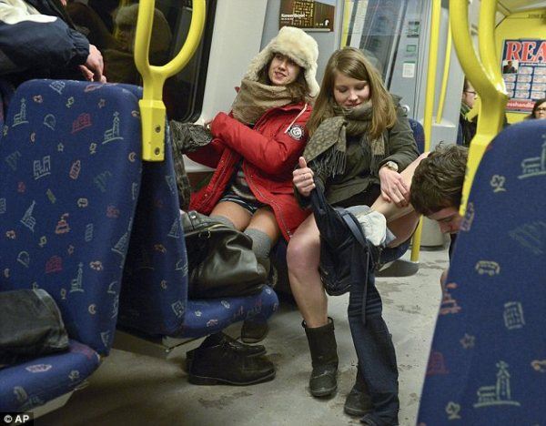 Commuters around the globe ditch their trousers for 12th ...