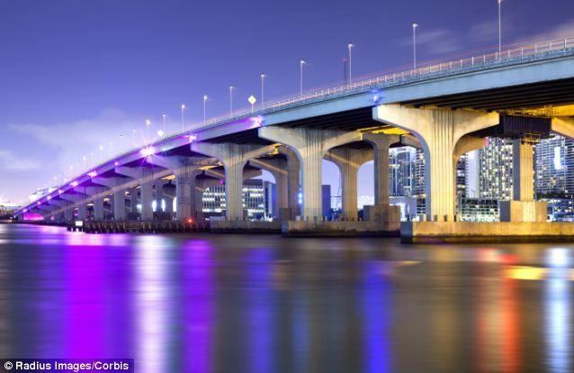 A long span: The MacArthur Causeway is a lengthy bridge that runs over the Biscayne Bay, connecting Miami with Miami Beach