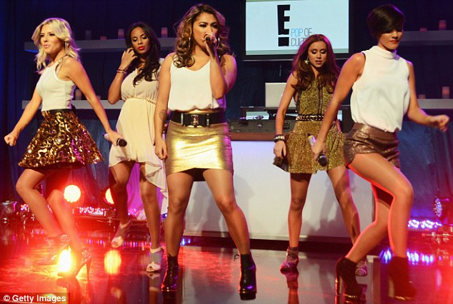 They're on fire! The Saturdays perform on stage after the Golden Globes and are in America to film their E! reality show Chasing The Saturdays